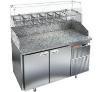 Стол охлаждаемый высокотемпературный Hicold тип HT модель PZ3-11/GN для пиццы (камень)