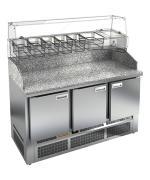 Стол охлаждаемый высокотемпературный Hicold тип HT модель PZE3-111/GN для пиццы (камень)