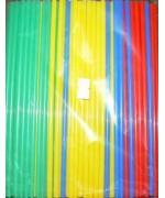 Трубочки кокт. 0,5*21 см.250 шт/уп. цветные прямые Mix /1/48/